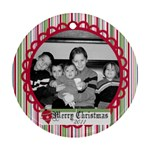 Circle Christmas Ornament 3 - Ornament (Round)