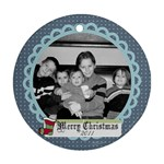 Circle Christmas Ornament 5 - Ornament (Round)