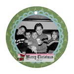 Circle Christmas Ornament 6 - Ornament (Round)