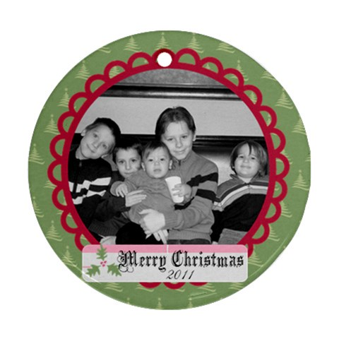 Circle Christmas Ornament 7 By Martha Meier   Ornament (round)   Ppxs0zcaetml   Www Artscow Com Front