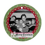 Circle Christmas Ornament 7 - Ornament (Round)