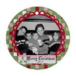 Circle Christmas Ornament 8 - Ornament (Round)