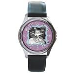 Purple Haze watch - Round Metal Watch