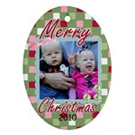 Payton Christmas Ornament - Ornament (Oval)