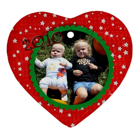 Grandparents Ornament By Amanda Davis   Ornament (heart)   1hpgoqemt0su   Www Artscow Com Front