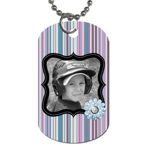 Purple Haze Dog Tag 1 By Martha Meier   Dog Tag (one Side)   1qyfx4e0uzyf   Www Artscow Com Front