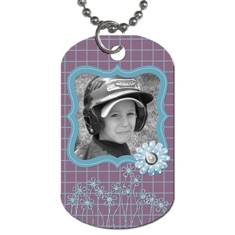 Purple Haze Dog Tag 2 By Martha Meier   Dog Tag (one Side)   9xzcymcapplc   Www Artscow Com Front