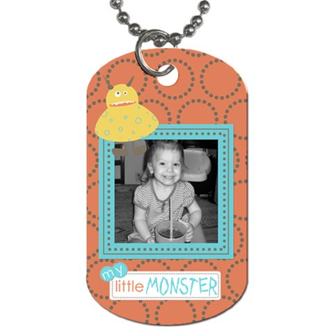 Little Monster Dog Tag 2 By Martha Meier   Dog Tag (one Side)   Mhg40r0fssv6   Www Artscow Com Front