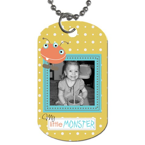 Little Monster Dog Tag 4 By Martha Meier   Dog Tag (one Side)   Rv0ezt9o10ah   Www Artscow Com Front