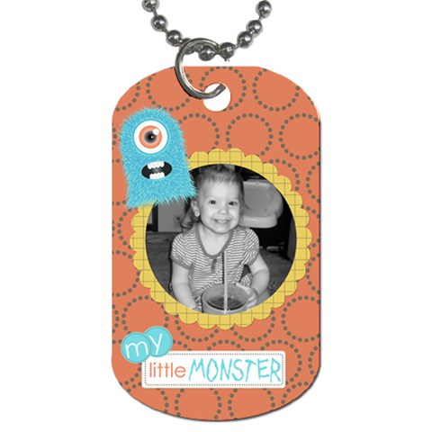 Little Monster Dog Tag 5 By Martha Meier   Dog Tag (one Side)   Oiv2y32xtfrx   Www Artscow Com Front