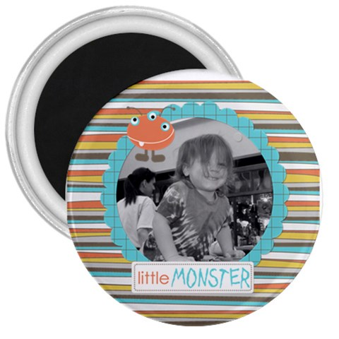 Little Monster Magnet 4 By Martha Meier   3  Magnet   Qxzxehptd3a2   Www Artscow Com Front