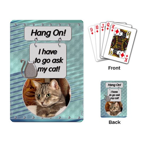 Cat Playing Cards By Lil    Playing Cards Single Design   Tc5mudqh4w7c   Www Artscow Com Back