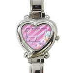 flowers heart watch - Heart Italian Charm Watch