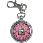 Art nouveau pink keychain watch - Key Chain Watch