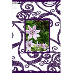 Fantasia Funky Purple Notebook By Catvinnat   5 5  X 8 5  Notebook   Aezbxf1a5rk4   Www Artscow Com Front Cover