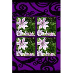 Fantasia Funky Purple Notebook By Catvinnat   5 5  X 8 5  Notebook   Aezbxf1a5rk4   Www Artscow Com Front Cover Inside