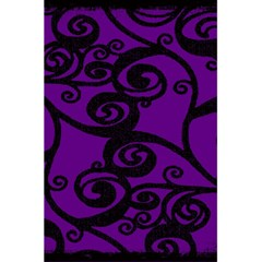 Fantasia Funky Purple Notebook By Catvinnat   5 5  X 8 5  Notebook   Aezbxf1a5rk4   Www Artscow Com Back Cover Inside