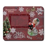 Merry Christmas lantern girl red snowflake remember when large mousepad