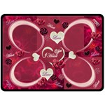I Heart You Pink fleese blanket - Fleece Blanket (Large)