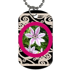 Fantasia Classic Pink Frame Dog Tag By Catvinnat   Dog Tag (two Sides)   N7lh4ovjlsfi   Www Artscow Com Back