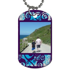 Fantasia Father And Son  Dog Tag By Catvinnat   Dog Tag (two Sides)   77f8naj0psx8   Www Artscow Com Front
