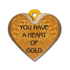 Heart Of Gold 2 Sided Dog Tag By Lil    Dog Tag Heart (two Sides)   Qaaybed139ok   Www Artscow Com Front
