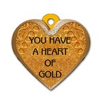 Heart of Gold 2-Sided Dog Tag - Dog Tag Heart (Two Sides)