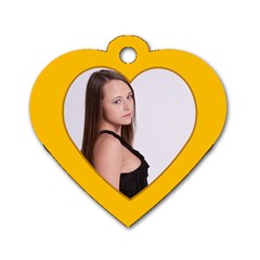 Heart Of Gold 2 Sided Dog Tag By Lil    Dog Tag Heart (two Sides)   Qaaybed139ok   Www Artscow Com Back