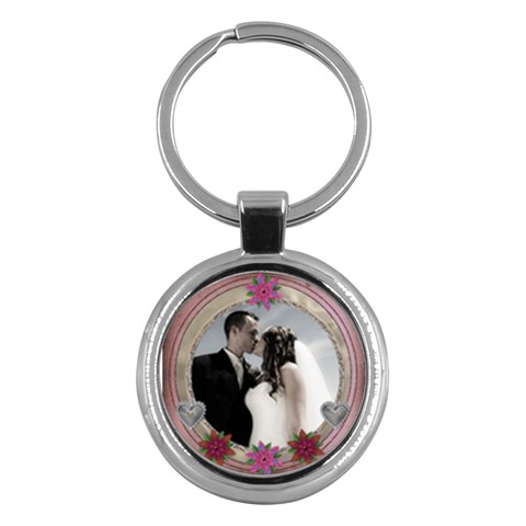 Romantic Pink Keychain By Lil    Key Chain (round)   S2c36748gkru   Www Artscow Com Front