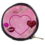 I Heart you light pink with lips - Mini Makeup Bag