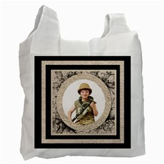Fantasia Classic Round  Frame  Double Sided Recycle Bag By Catvinnat   Recycle Bag (two Side)   Awb79whskqc8   Www Artscow Com Front