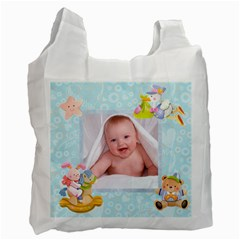 Blanky Bunny Newborn Baby Recycle Bag 2 Sides By Catvinnat   Recycle Bag (two Side)   B2srkpx2lbhn   Www Artscow Com Front