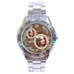 stainless analogue army fatigue 2a twin frame  desert camo watch - Stainless Steel Analogue Watch