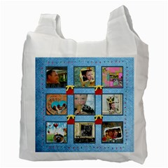 Jolly Holidays Fairy Lights Multi Frame Christmas Recycle Bag By Catvinnat   Recycle Bag (two Side)   Y9cza7fgcnsf   Www Artscow Com Back