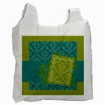Turquoise & Green Recycle Bag - Recycle Bag (One Side)