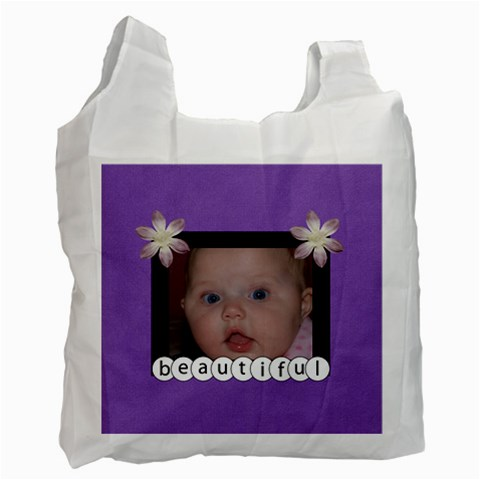 Beautiful Frame Recycle Bag (purple) By Jen   Recycle Bag (one Side)   Fc36q2xj7uy3   Www Artscow Com Front
