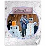 snow fun canvas template - Canvas 11  x 14