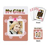 my girl card template - Playing Cards Single Design