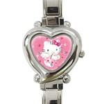 Hello Kitty Heart Watch - Heart Italian Charm Watch