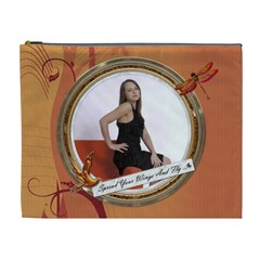 Spread Your Wings And Fly Xl Cosmetic Bag By Lil    Cosmetic Bag (xl)   W37cbe6047wx   Www Artscow Com Front