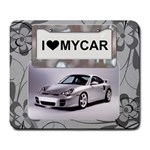 I Love My Car Large Mousepad