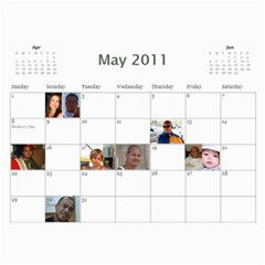 Moms Family Calender By Michelle   Wall Calendar 11  X 8 5  (12 Months)   Rogttghaye4w   Www Artscow Com May 2011