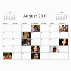 Moms Family Calender By Michelle   Wall Calendar 11  X 8 5  (12 Months)   Rogttghaye4w   Www Artscow Com Aug 2011