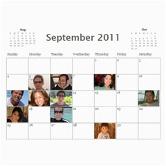 Moms Family Calender By Michelle   Wall Calendar 11  X 8 5  (12 Months)   Rogttghaye4w   Www Artscow Com Sep 2011
