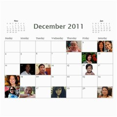 Moms Family Calender By Michelle   Wall Calendar 11  X 8 5  (12 Months)   Rogttghaye4w   Www Artscow Com Dec 2011