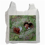 I heart you green2 swirl33 baby recycle bag - Recycle Bag (One Side)