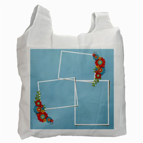 Recycle Bag (one Side )template Summer5 By Jennyl   Recycle Bag (one Side)   9dxdt0sc2qiw   Www Artscow Com Front