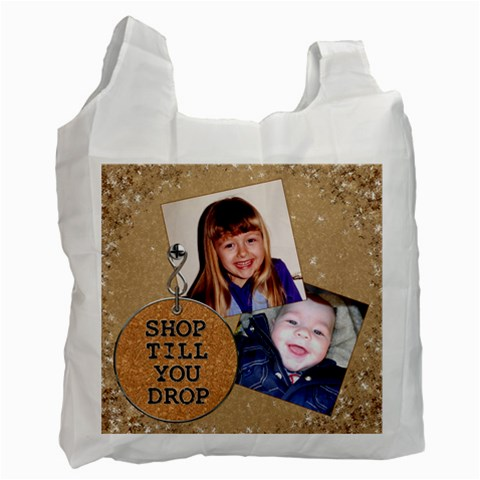 Shop Till You Drop Recycle Bag #2 By Lil    Recycle Bag (one Side)   8ogjoxcgr9ro   Www Artscow Com Front