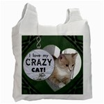 I Love My Crazy Cat Recycle Bag - Recycle Bag (One Side)