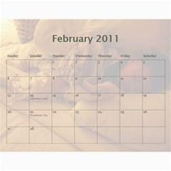 Calendar By Amy Barton   Wall Calendar 11  X 8 5  (12 Months)   4xbcw0388we7   Www Artscow Com Feb 2011
